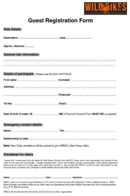 Guest Registration Form