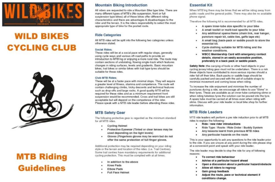 Mountain Bike Guidelines