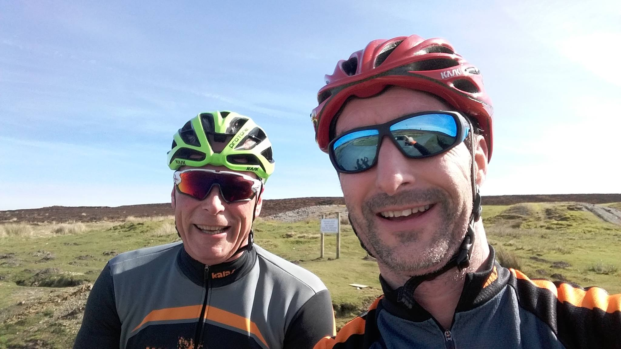 Gary and Ben enjoying a sunny ride