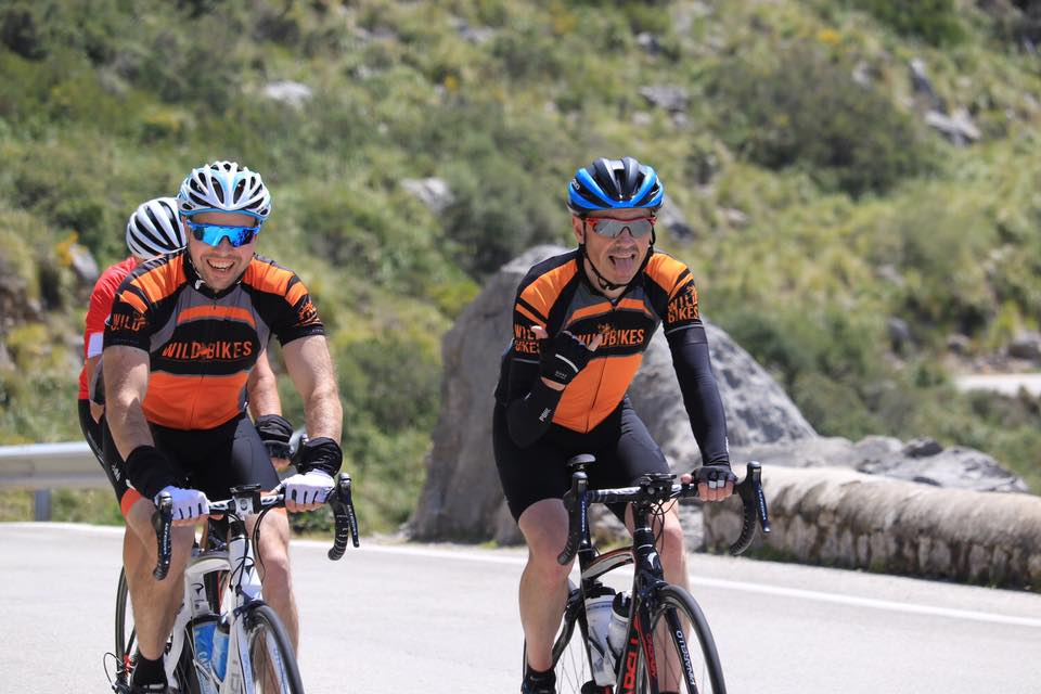 Neil and Chris enjoying the hills in Majorca