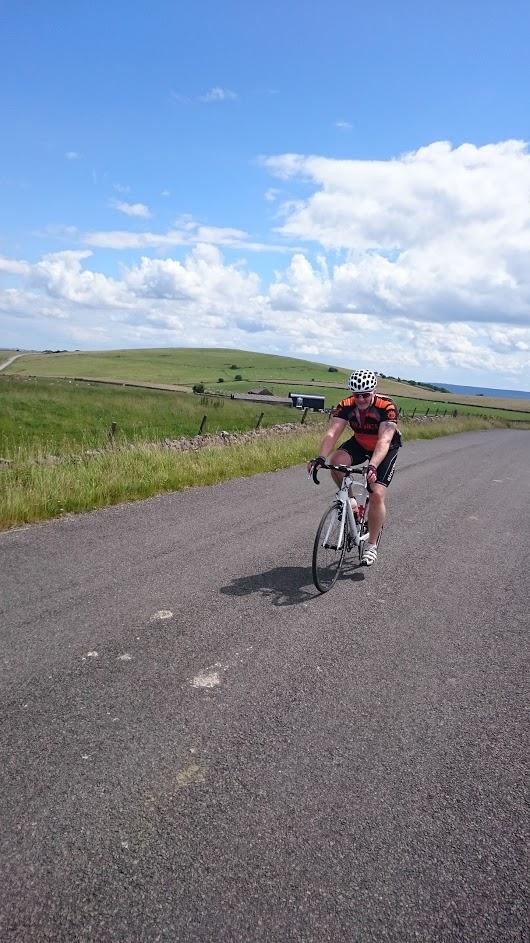 Paul enjoying some sunshine on an inters ride