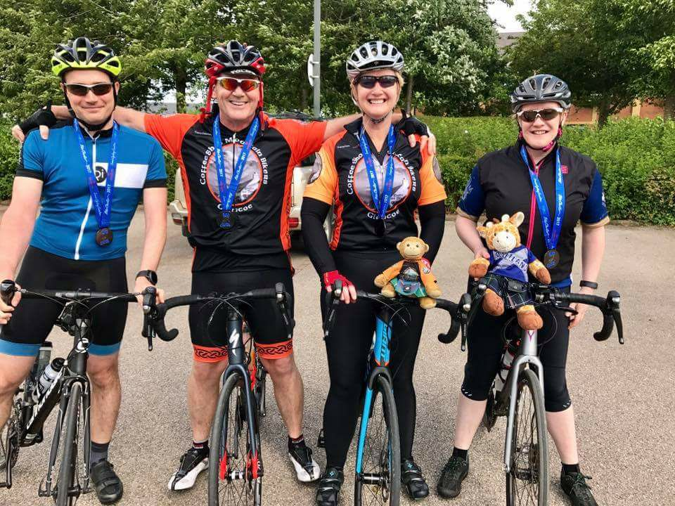 Medals at Bike Chester 2017