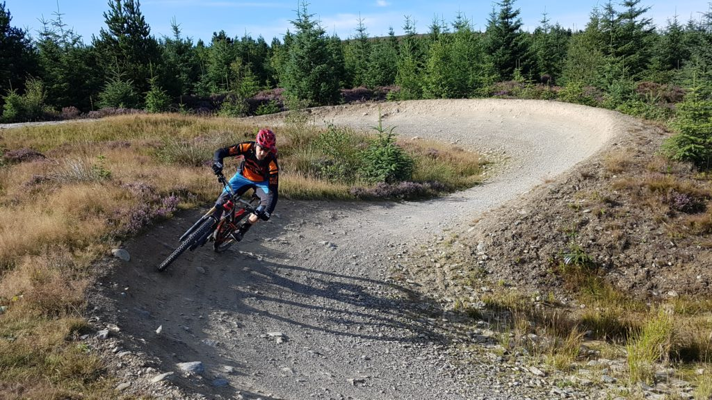Steve on the top berm at Llandegla