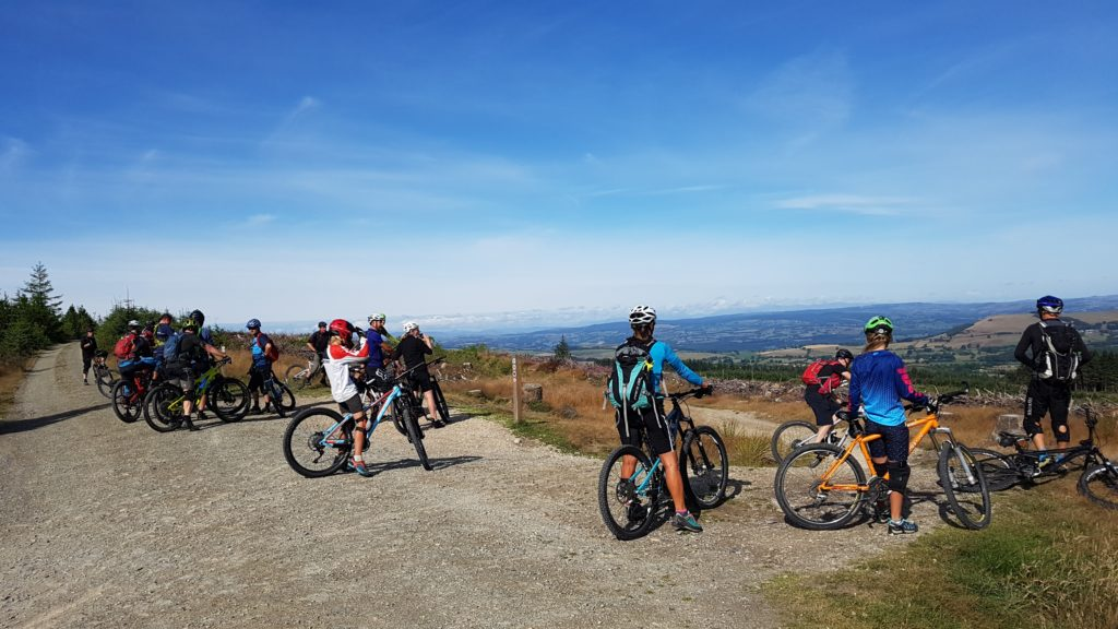 Busy up top on a stunning day at Llandegla